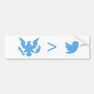 Actions Speak Louder than Birds White Bumper Stick Bumper Sticker