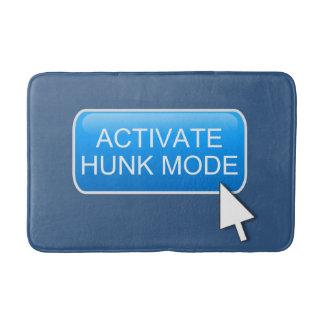 Activate hunk mode. bath mat