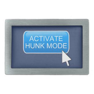Activate hunk mode. belt buckle