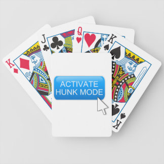 Activate hunk mode. bicycle playing cards