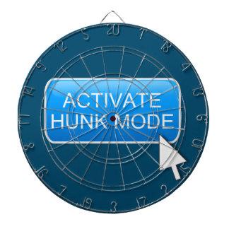Activate hunk mode. dartboard