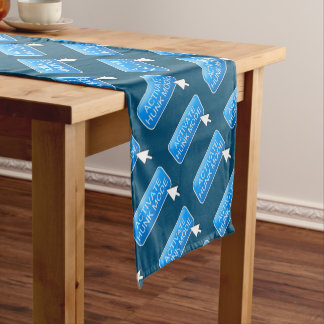Activate hunk mode. short table runner
