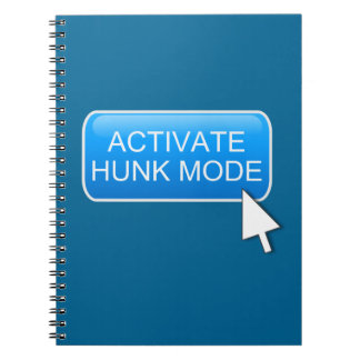 Activate hunk mode. spiral notebook
