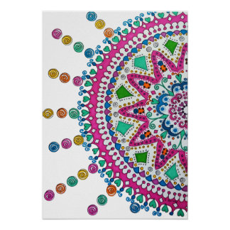 Activating Abundance Healing Mandala Art Poster