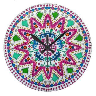 Activating Abundance Healing Mandala Wall Clock