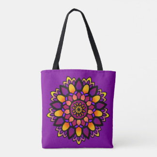 Activating Divine Wisdom Mandala Art Canvas Bag