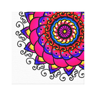 Activating Intuition Healing Mandala Art Canvas