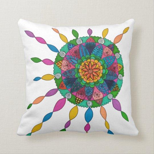 Activating Joy Healing Mandala Art Cushion