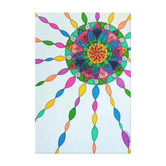 Activating Joy Healing Mandala Canvas Art Print