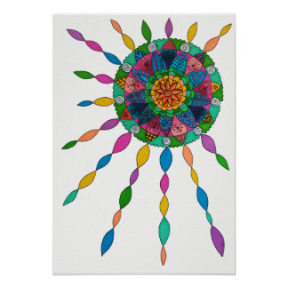 Activating Joy Healing Mandala Poster