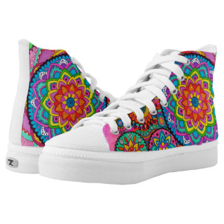 Activating Peace Mandala Art High-Top Sneakers