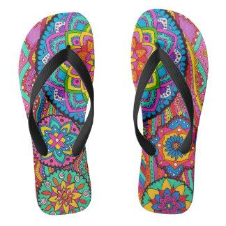 Activating Peace Mandala Men's Women's Flip Flops
