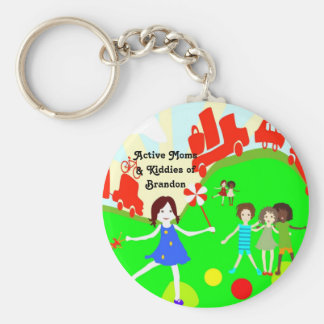 Active Moms Logo Buttons Keychain