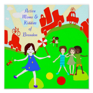 Active Moms Logo Poster