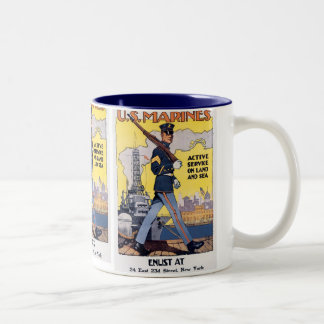 Active Service on Land and Sea Two-Tone Coffee Mug
