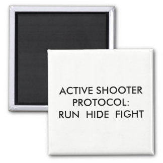 Active Shooter Protocol Magnet