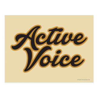 Active Voice Postcard