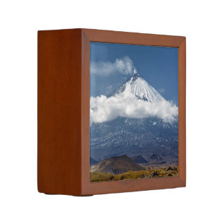 Active volcano in Kamchatka Peninsula Desk Organizer