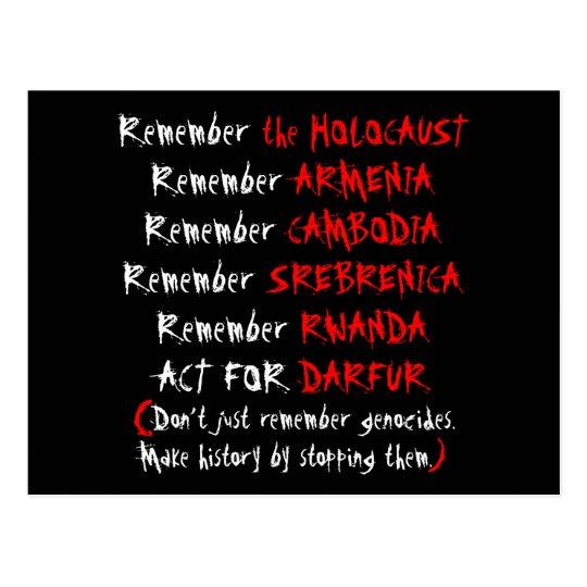 Activism: Don't just remember genocides... Postcard