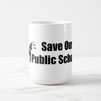Activist Dog: Save Our Public Schools Coffee Mug