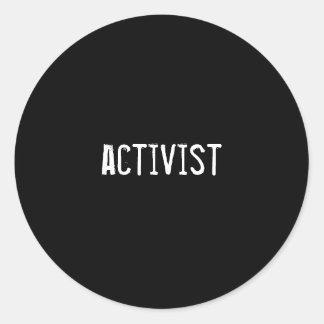 activist round sticker