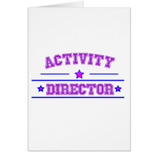 Activity Director Design Card