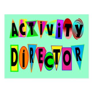 ACTIVITY DIRECTOR POSTCARD