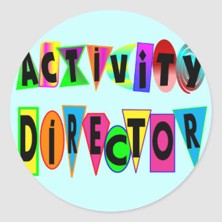 ACTIVITY DIRECTOR ROUND STICKER