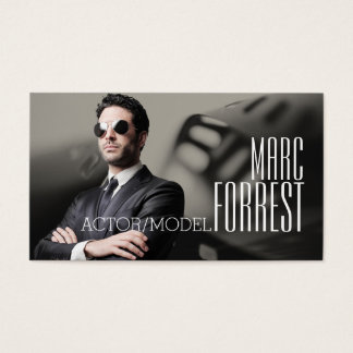 Actor Actress Model Headshot Filming Theater Business Card