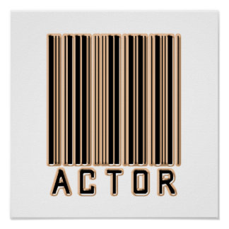 Actor Barcode Poster