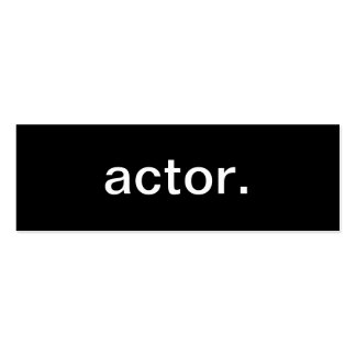 Actor Business Card