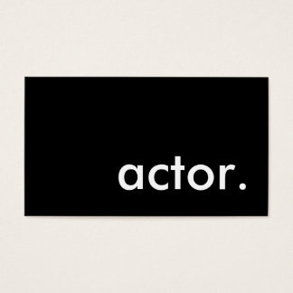 actor. business card