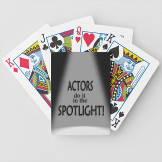 Actor Do It in the Spotlight Bicycle Playing Cards