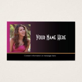 Actor Headshot Business Card