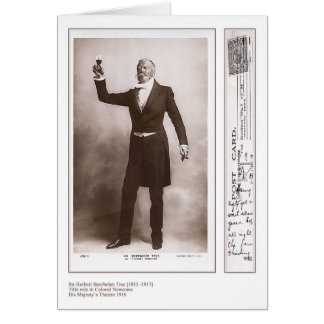 Actor Herbert Beerbohm Tree Greeting Card