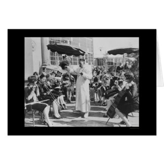 Actor Lon Chaney as Mr. Wu with Girls Band 1927 Card