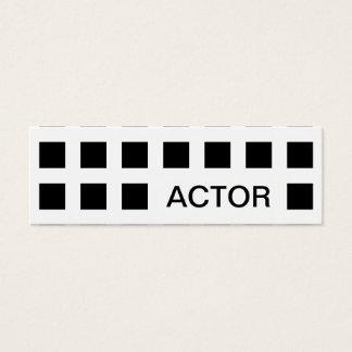 ACTOR (mod squares) Mini Business Card
