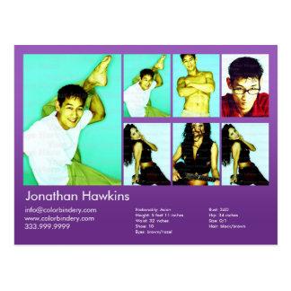 Actor & Model Violet Headshot Comp Post Cards