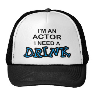 Actor Need a Drink Mesh Hats