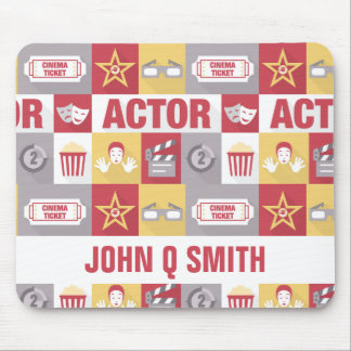 Actor Pictogram•Custom Mouse Pad