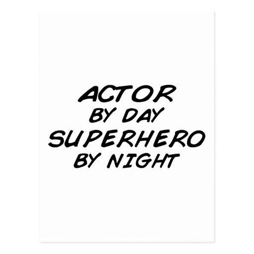 Actor Superhero by Night Post Card