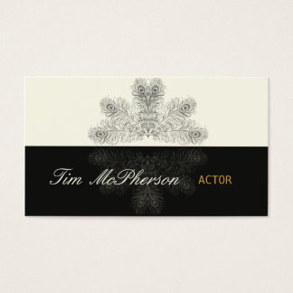 Actor Trendy Peacock Feathers Business Card