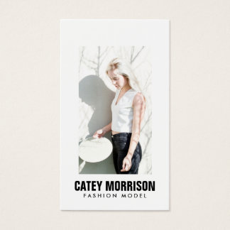 Actors and Models Classic White Framed Headshot Business Card