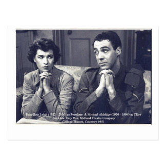 Actors Benedicta Leigh and Michael Aldridge Postcard