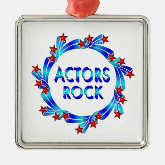 Actors Rock Red Stars Metal Ornament