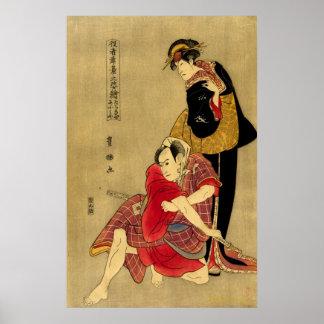 Actors Tachibanaya and Omiya Poster