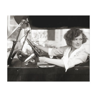 Actress Behind the Wheel, 1921 Canvas Print
