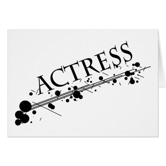 Actress Cool products! Card