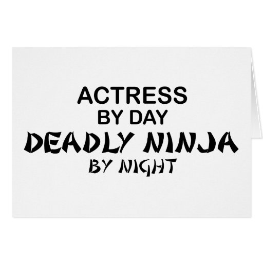Actress Deadly Ninja by Night Greeting Card