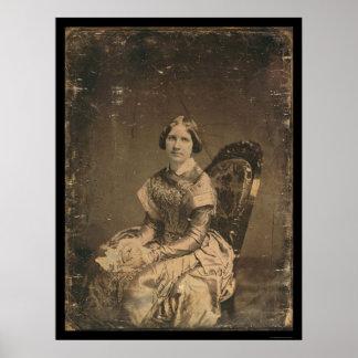 Actress Jenny Lind Daguerreotype 1848 Poster